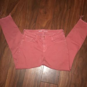 Cropped fray jeggings